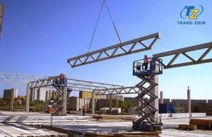 budowa szkieletu stalowego hali galerii gemini w tranowie