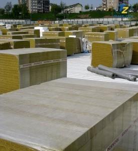 bloki wełny mineralnej do ocieplenia dachu