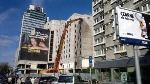 maszyna o długim wysięgu burzy hotel Mercure
