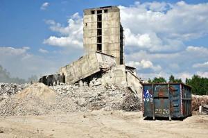 zawazlony budynek szpitala w Zabrzu