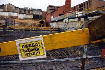 wykop prowadzony dla firmy Warbud na terenie Browaru Lubicz w Krakowie