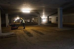 kontrola niwelacji powierzchni parkingu