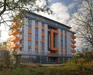 elewacja wybudowanego apartamentowca oriolus