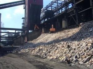recykling materiału kamiennego prowadzony na miejscu