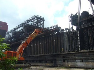 rozbiórka wież węgla