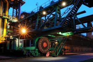 maszyny na terenie koksowni w dąbrowie górniczej