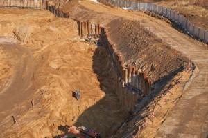 grodzice stalowe larseny głęboki wykop ściany pionowe